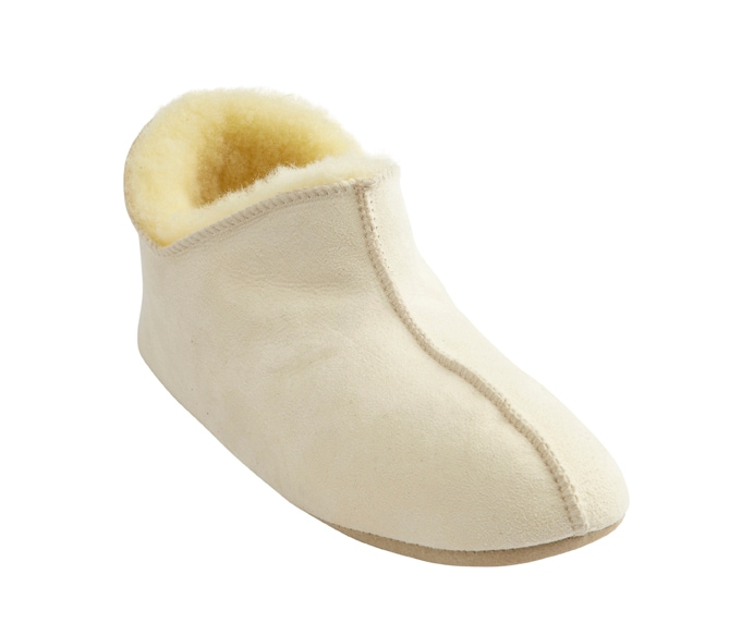 Henrik slippers Natural white