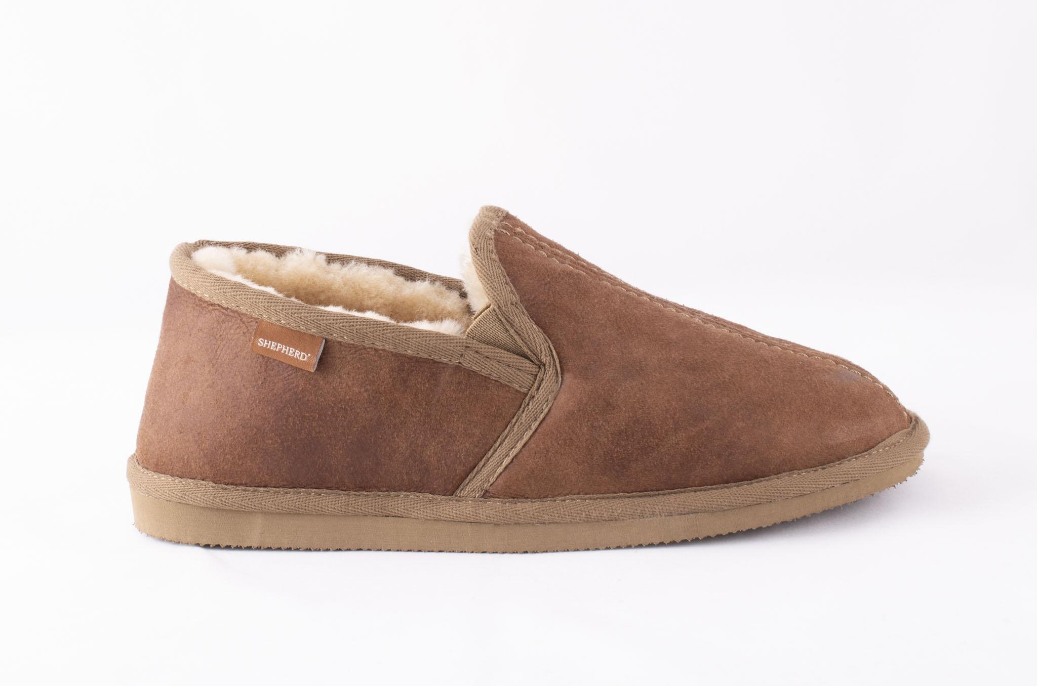 Bosse, sheepskin slippers Camel