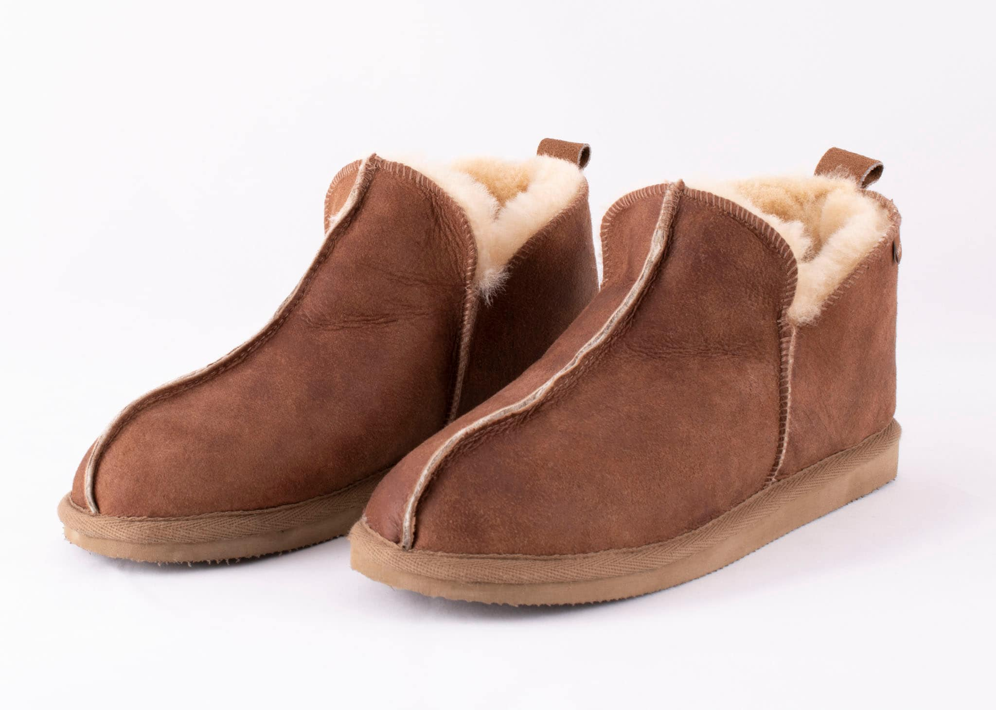 Anton slippers Antique cognac
