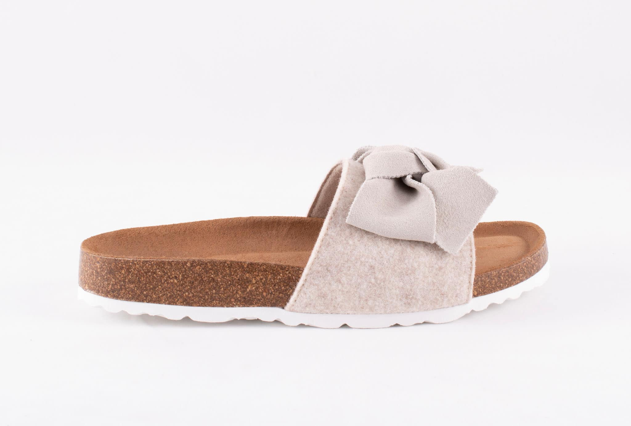 Silvia sandals in wool, Light beige