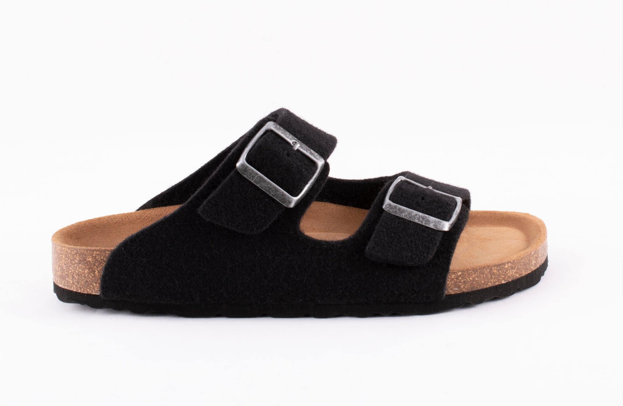 Mikael wool sandals Black