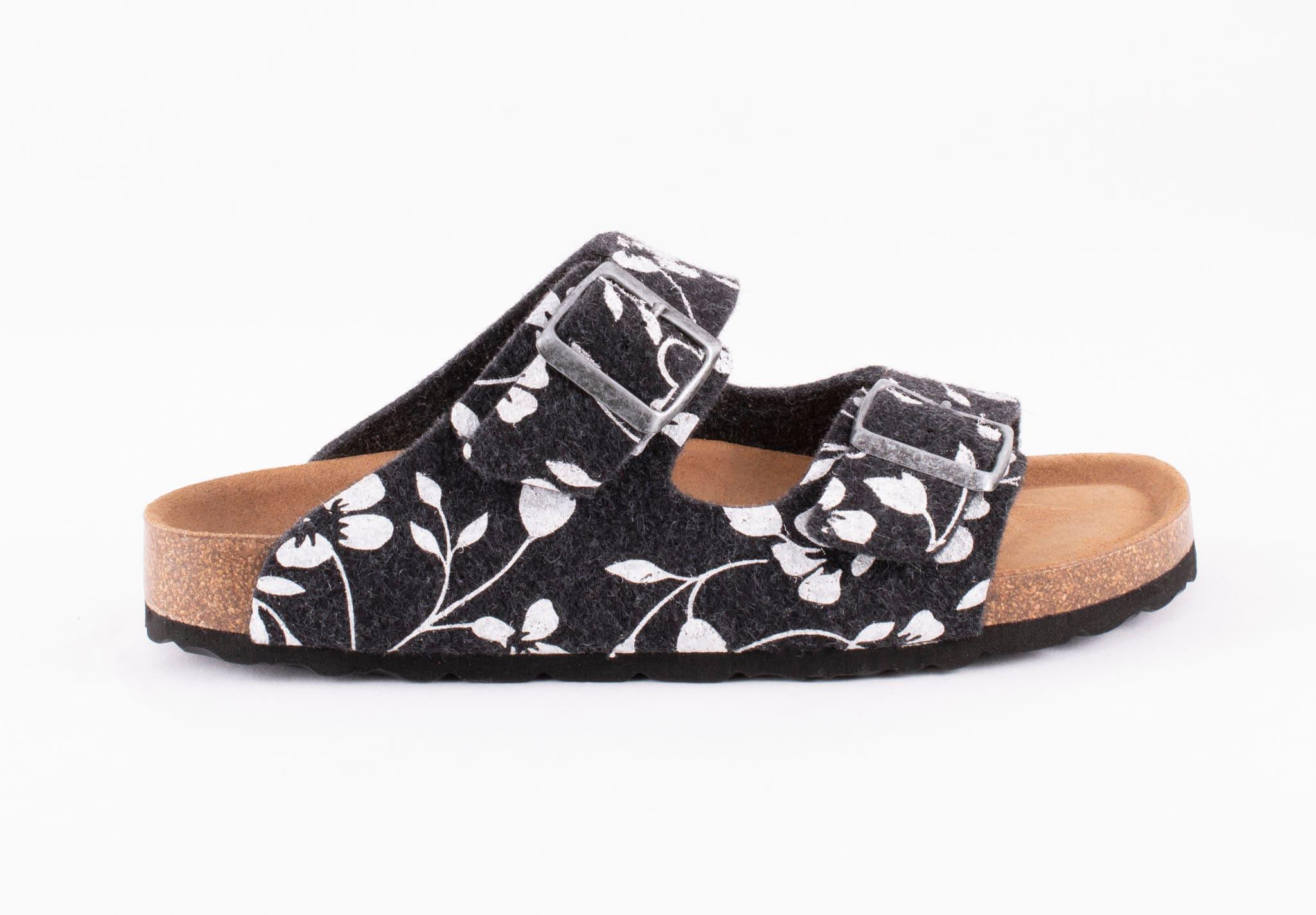 Mathilda sandals Black floral