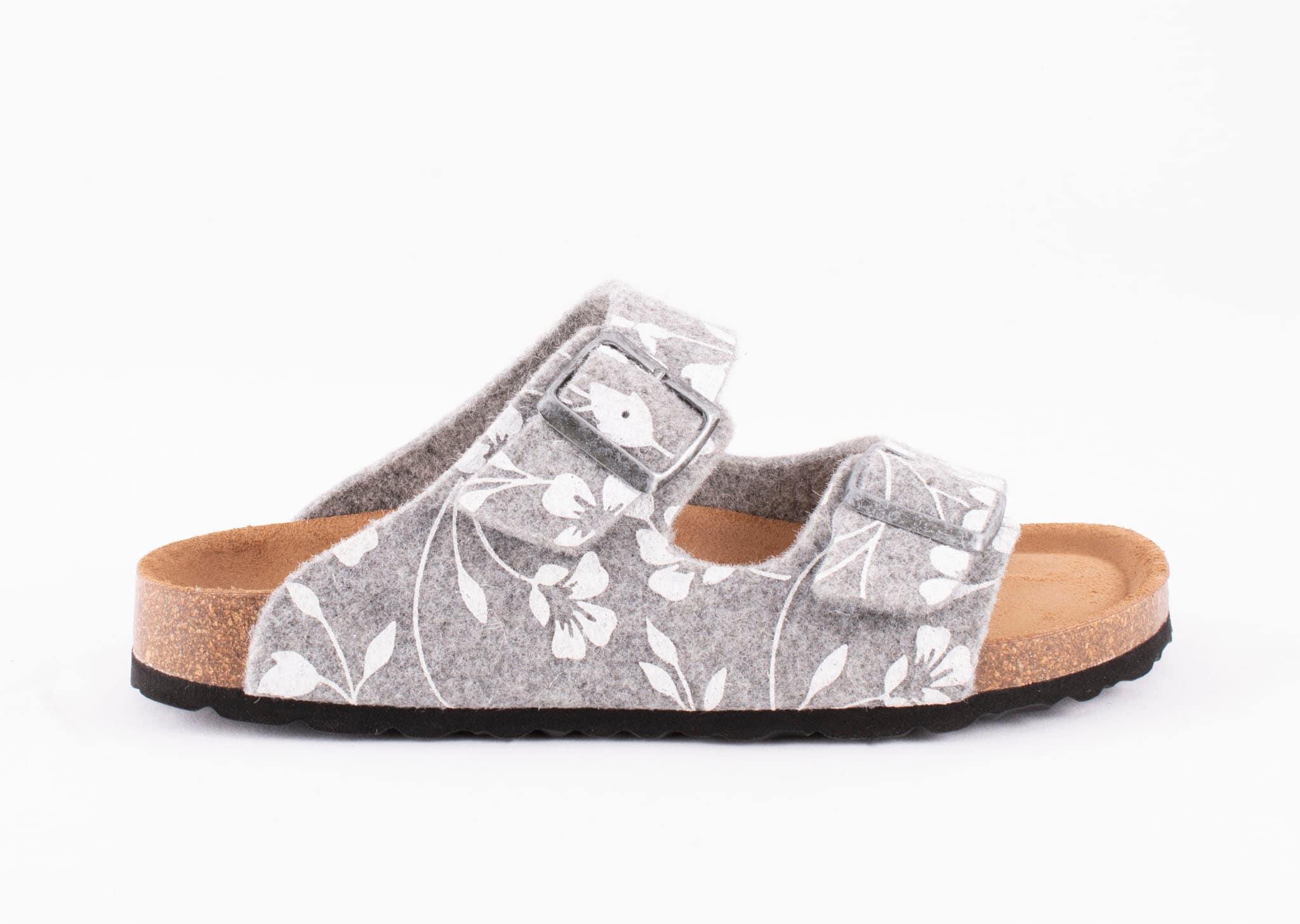 Mathilda sandals Grey floral