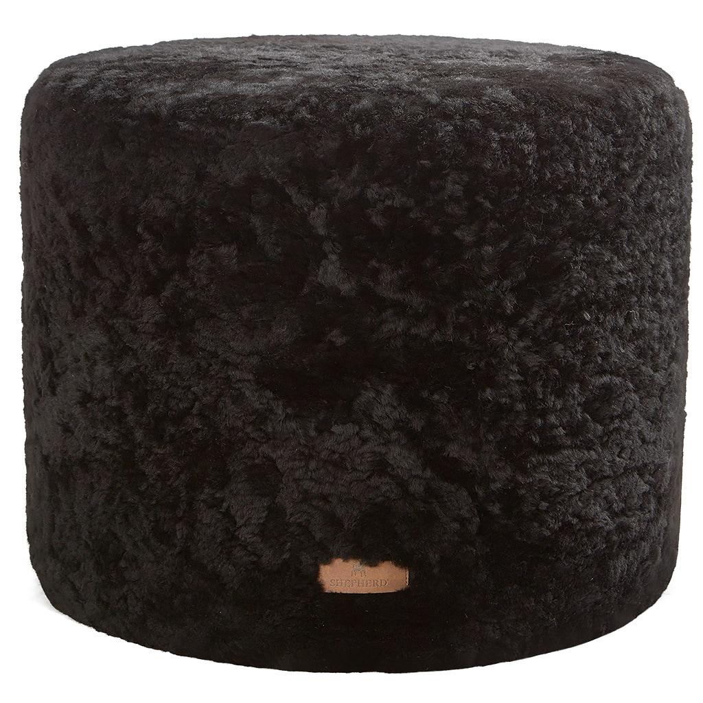 Frida a round sheepskin pouf 40x40cm