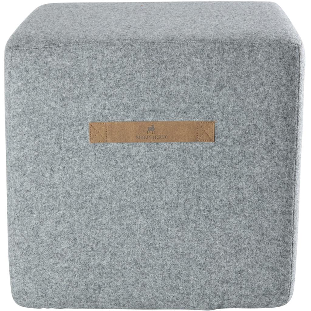 Anna wool pouffe rectangular 40x40cm
