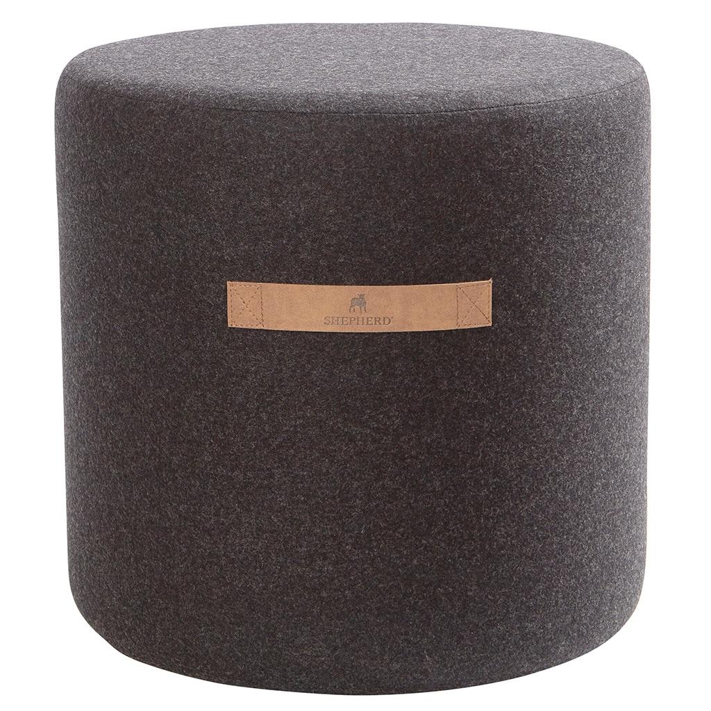 Sara wool pouffe round 40x40cm