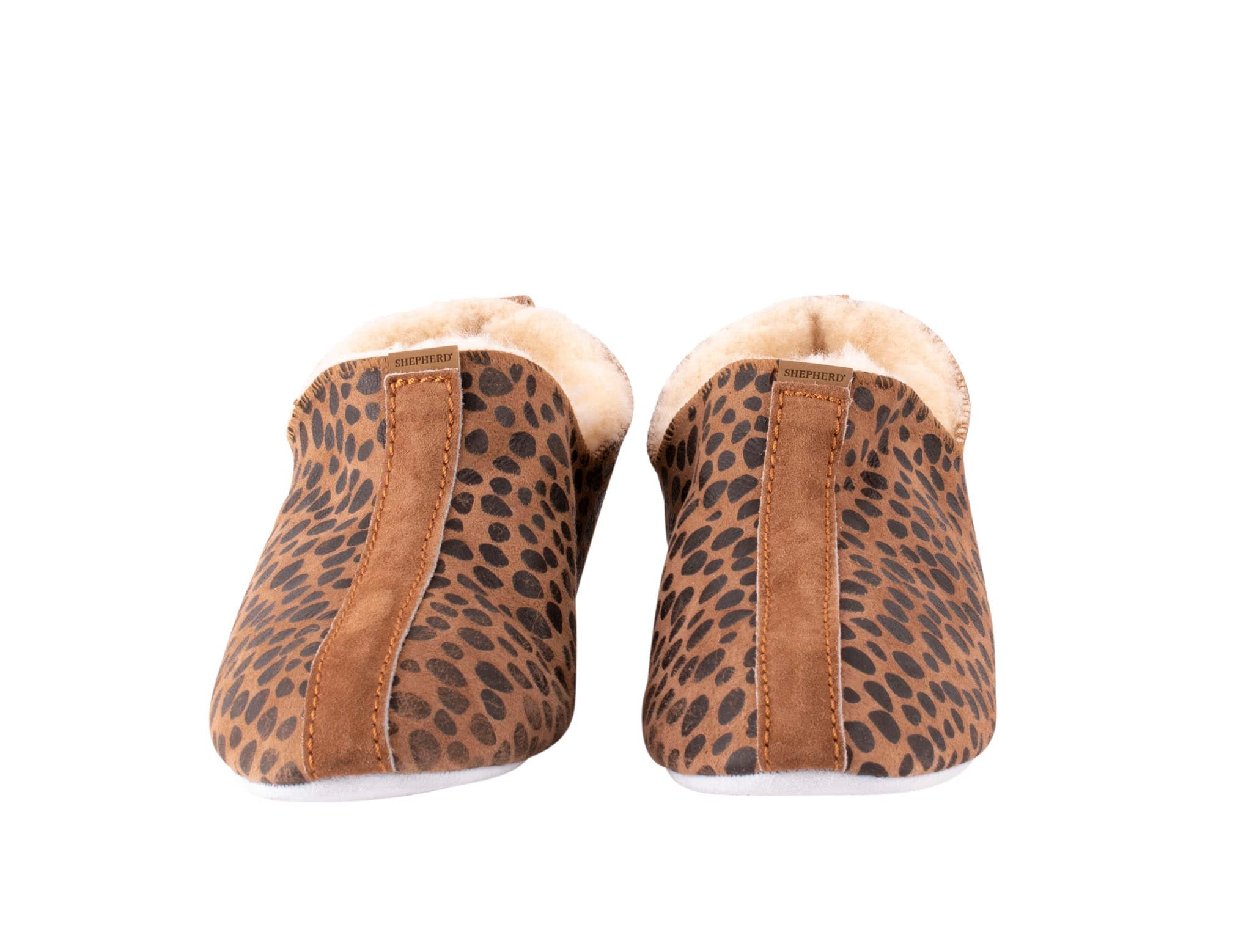 Lina sheepskin slippers Leopard