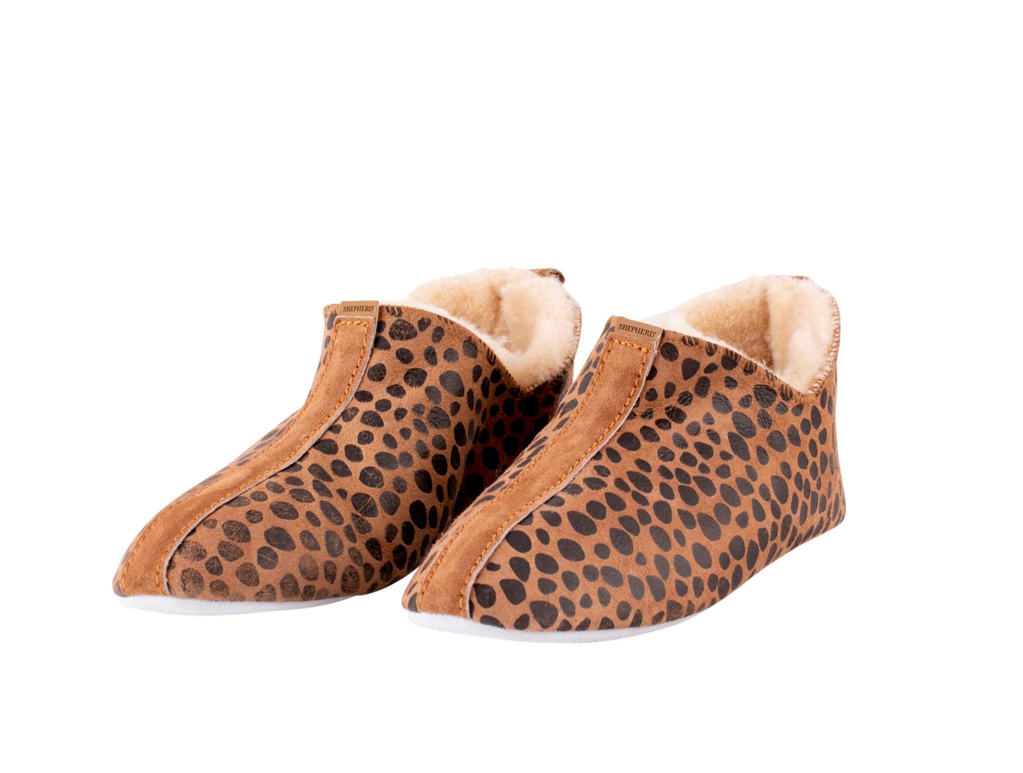 Lina sheepskin slippers Leopard