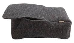 Doris storage box in felted wool size 28x17cm